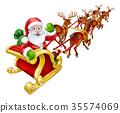 santa sleigh christmas 35574069