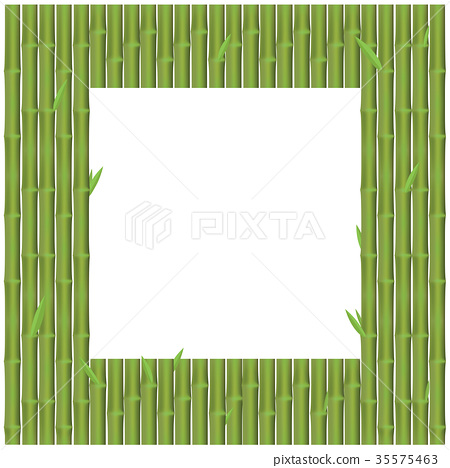 Bamboo branches is rectangular position for frame 35575463