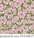 Floral pattern of pink peonies. 35576817