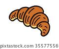 羊角麵包 麵包 食物 35577556
