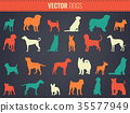 Dog breeds silhouettes. Dog icons collection 35577949
