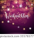 Vector Christmas Illustration with German Frohe 35578377