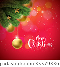 christmas background vector 35579336