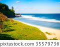 Beautiful Gris Gris sandy beach 35579736