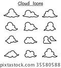 Cloud icon set 35580588