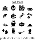 Salt icon set vector illustration graphic design 35580604
