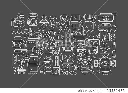 Photo Equipment line art vector illustration 35581475