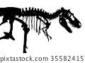 Tyrannosaurus Rex skeleton . 35582415