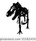 Tyrannosaurus Rex skeleton .  35582450