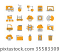 Cloud omputing. Internet technology. Online 35583309