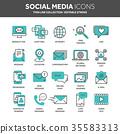 Communication. Social media. Online chatting 35583313