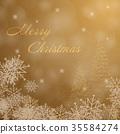 Christmas trees and snowflakes 35584274