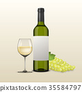 bottle grape wineglass 35584797