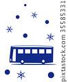 乘雪公共汽车观光 35585331