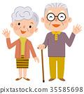 老人 年老 老年人 35585698