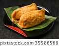 유부 초밥 Sushi in fried tofu japanese food 35586569