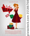 vector woman shopping 35586768
