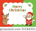 圣诞老人和驯鹿 35589301