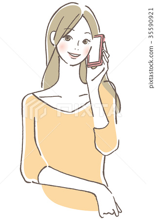 Woman talk on cell phone 35590921