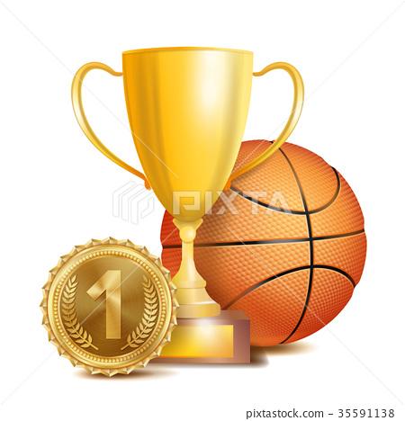 Basketball Achievement Award Vector. Sport Banner 35591138