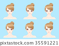 woman with different face 35591221