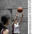 여성, 여자, 농구 35591714