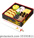 New Year dishes, Ichino Shige and celebration chopsticks 35593811