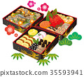 New Year dishes set 35593941