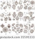 Oriental decorative symbols 35595333