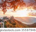 Aggstein castle during  autumn in Wachau, Austria 35597946