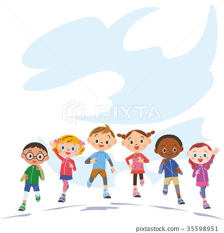 child, kid, marathon 35598951