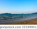 หาดทราย,คลื่น,มหาสมุทร 35599941