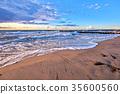 romantic evening on beach 35600560