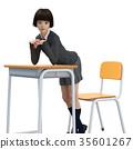 นักเรียน,ชุดเครื่องแบบ,เท้า 35601267