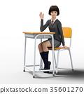 นักเรียน,ชุดเครื่องแบบ,เท้า 35601270