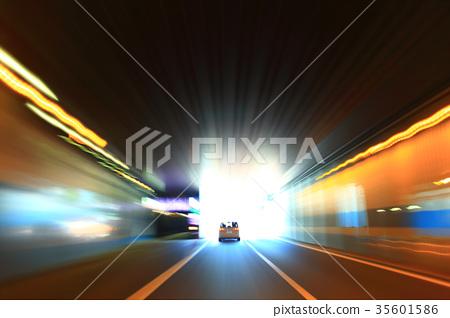 A car traveling underpass on Showa-dori 35601586
