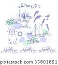 海 矢量 矢量图 35601691