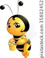 蜜蜂 卡通 插圖 35602452
