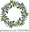 Watercolor sesame wreath 35603480
