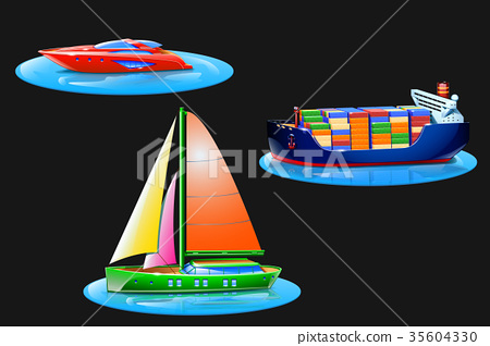 set with boats 35604330