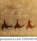 he three kings follow the star to Bethlehem 35604678