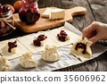cranberry pastry cheese 35606962