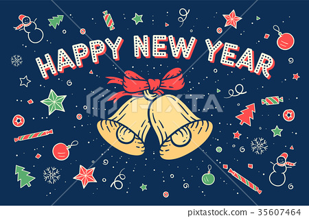 Greeting card Happy New Year 35607464