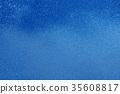 blue summer raindrops falling 35608817