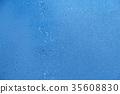 blue summer raindrops falling 35608830