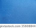 blue summer raindrops falling  35608844