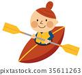 劃獨木舟的女人 35611263