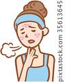 trouble, skin, acne 35613645