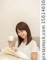 여성, 여자, 독서 35614636