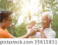 Asian three generations family. 35615831